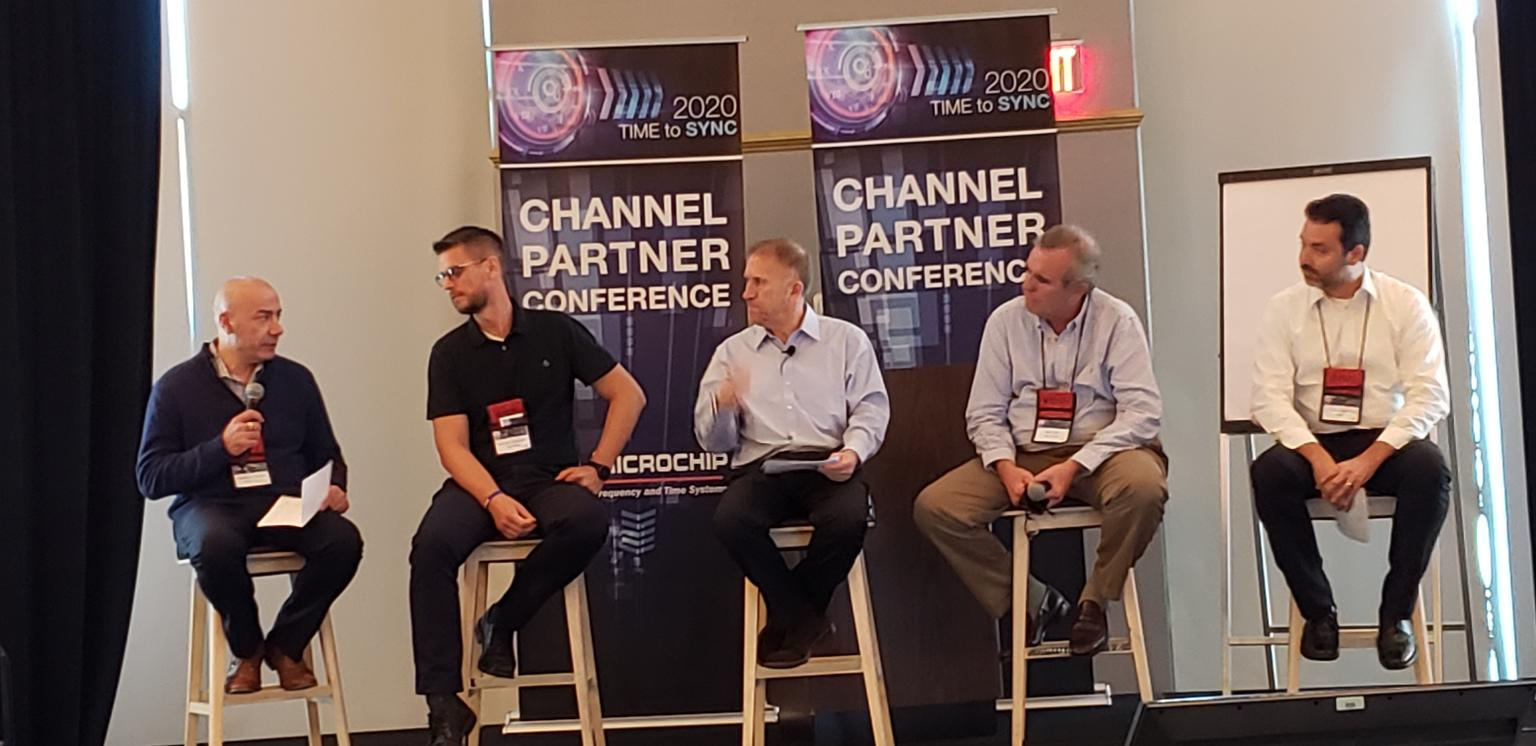 image of speakers at microchip technology inc partner conference